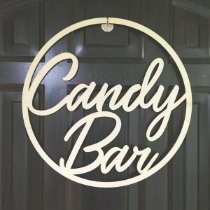 Koło z napisem Candy Bar