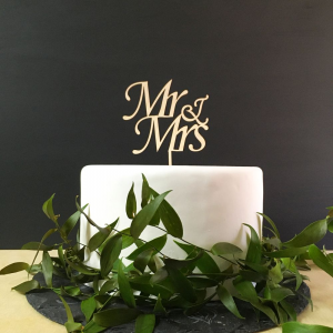 Topper na tort Mr & Mrs - wzór 2